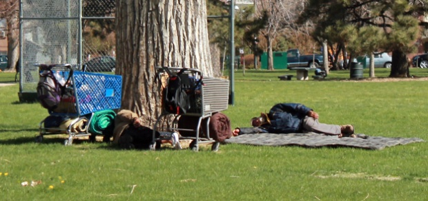 Homeless Sleeping Denver